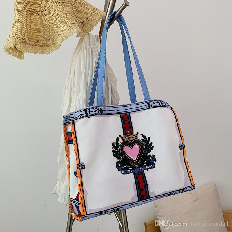 2020 Новая сумка Мода сумки Холст Totes Женщины Сумка улица трендовые сумки maitian / 3