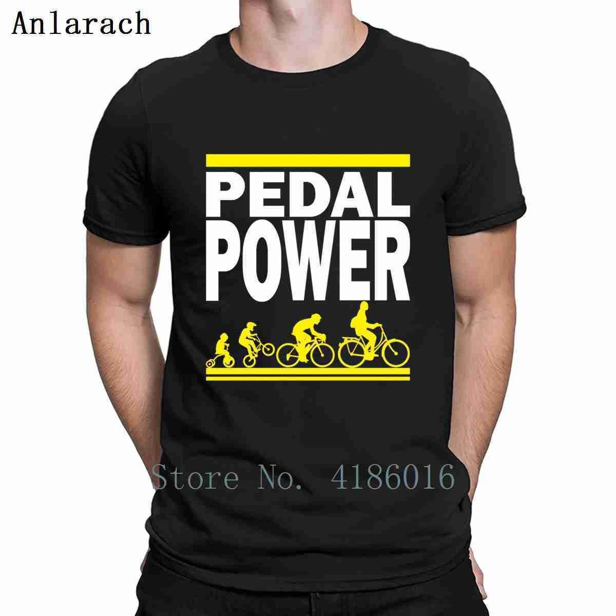 Pedal Güç Tişörtlü Mizah tasarlama Orijinal Yaz Boyut S-5XL Kısa Kollu Yenilik Ünlü Gömlek