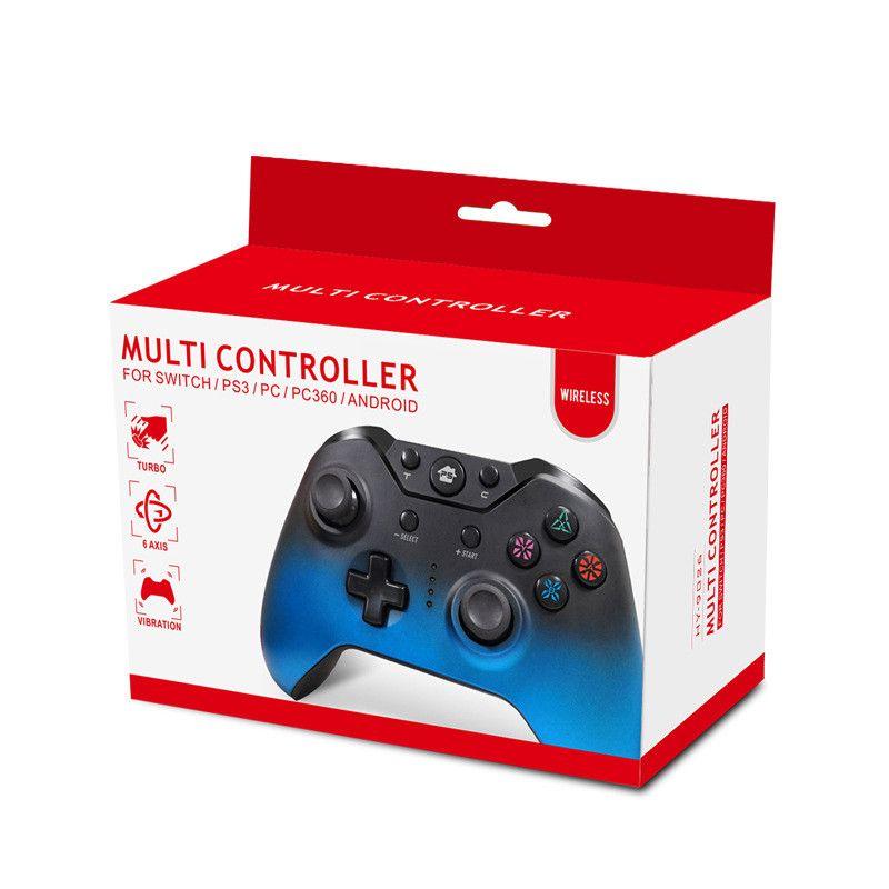 En iyi Kablosuz Bluetooth Oyun Denetleyicisi Anahtarı PC PC360 PS3 Oyun Denetleyicisi Gamepad Joystick Android Video Oyunları için Perakende Kutusu