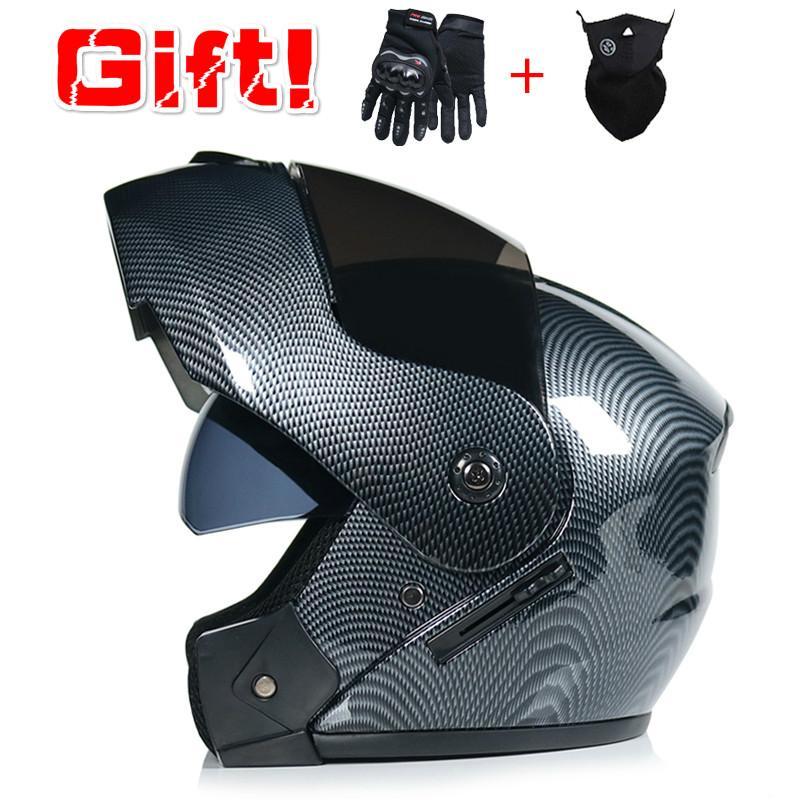 2020 más nuevo aprobado por el DOT tirón de seguridad modular casco de la motocicleta que compite con doble objetivo Voyage Casco interior visera VIRTUD-903