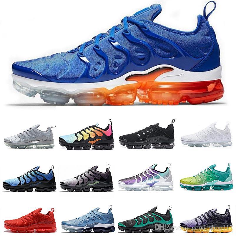 2019 tn artı erkek koşu ayakkabıları Leylak Renk Dize Colorway Zeytin Metalik Hava Yastığı Tasarımcısı Üçlü Beyaz Siyah Kadın Eğitmenler Spor Sneaker