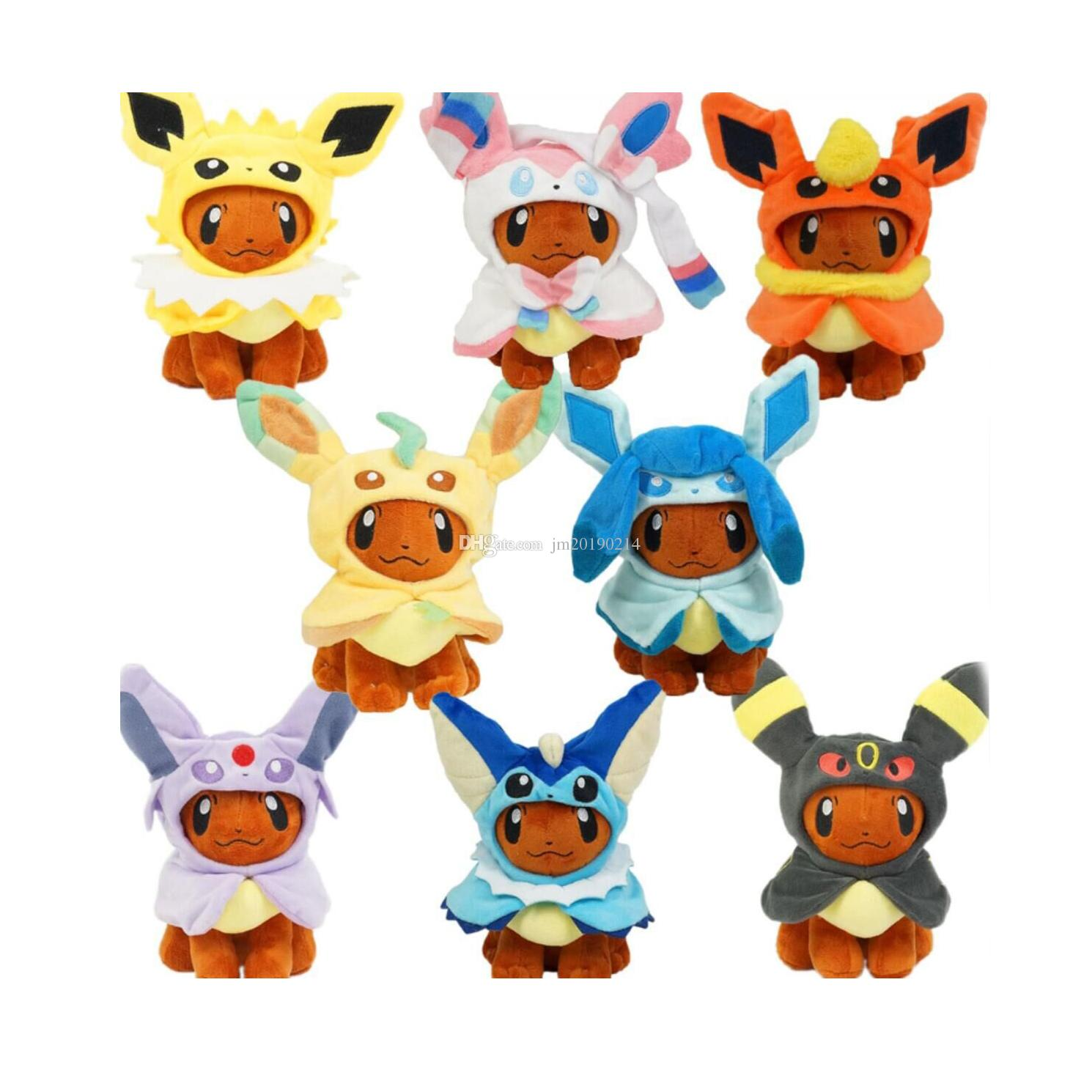 """New Toy Eevee Cosplay Jolteon Espeon Umbreon Flareon Glaceon Vaporeon Sylveon Soft Doll Plush Toy For Kids Christmas Gifts 8"""" 20CM"""