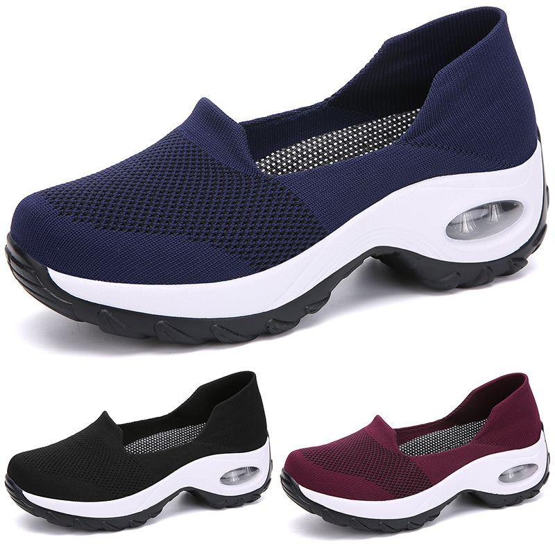 2020 أسود اللون الأزرق الأحمر فتاة النساء الاحذية LADY بسيطة TYPE2 الركض العلامة التجارية انخفاض قطع الأزياء المدربين مصمم رخيصة الرياضية حذاء 39-44