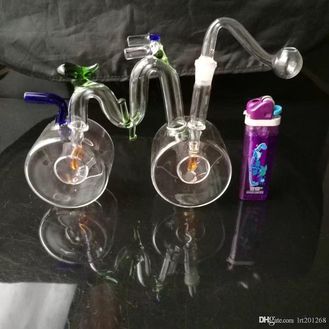 Bicicleta hookah pote, bongs de vidro grosso queimador de óleo de vidro Pipes Pipes água e óleo Rigs fumadores frete grátis