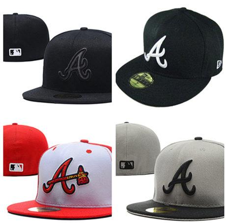 2020 FREE New Atlanta Braves Baseball Cap Embroidery Logo Cooperstown Fitted Hats Adult Fit Sports Cap
