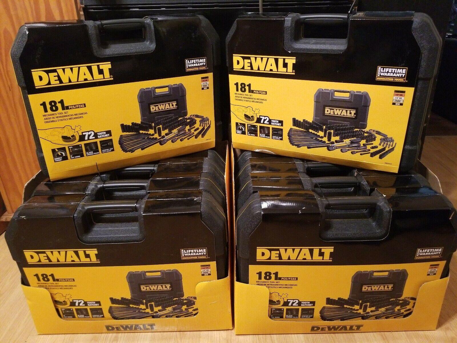 Dewalt 181 PC Black Chrome Mechanics Tool Set /& Hard Case Lifetime Warranty New