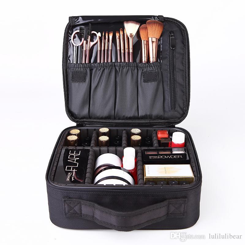 حار بيع الكورية أزياء المرأة حالات التجميل المحمولة وجيزة حقيبة مستحضرات التجميل حقيبة ماكياج المهنية حقيبة التخزين متعددة الوظائف