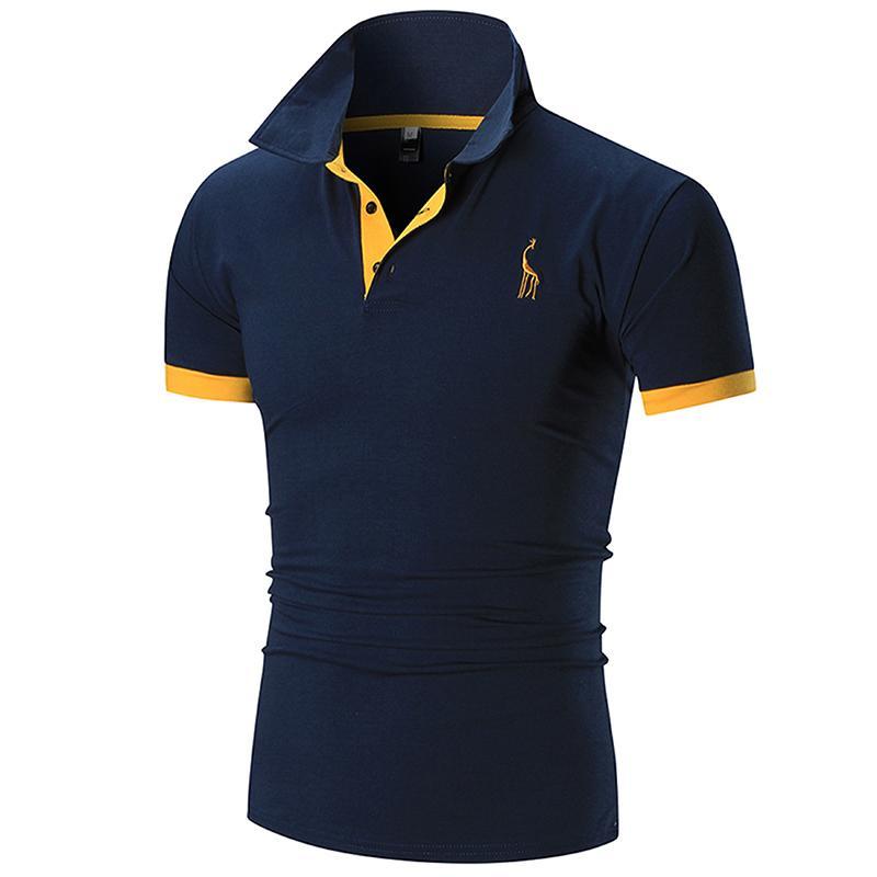 Slaccia la camicia di polo del progettista degli uomini di polo Camicia a maniche corte London Fashion ricamo Polo Camicie da uomo di alta qualità solido di colore