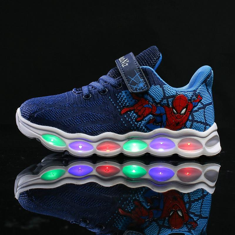 Luminous Sneakers Lighted Kids Shoes Comfortable Tenis Infantil Fashion Children Shoes For Girls Breathable Summer Sport Shoe