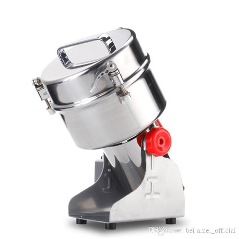 BEIJAMEI 2000g Tipo de columpio Granos eléctricos en polvo Molinillo Molinillo de alimentos secos Máquina comercial comercial Especias Trituradora de cereales Molienda