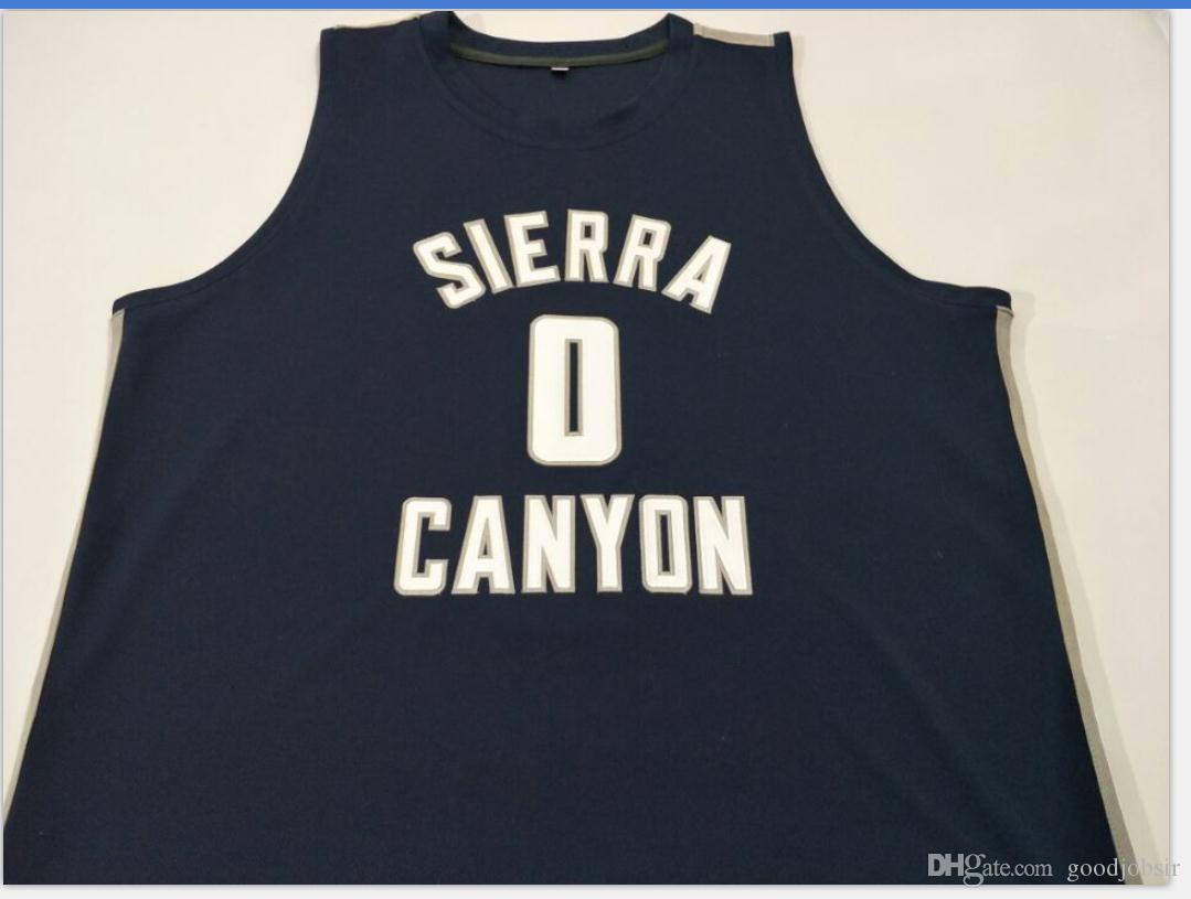 Benutzerdefinierte Männer Jugend Frauen # 0 Bronny Sierra Canyon BLUE Basketball-Jersey-Größe S-5XL oder benutzerdefinierten beliebigen Namen oder Nummer Jersey