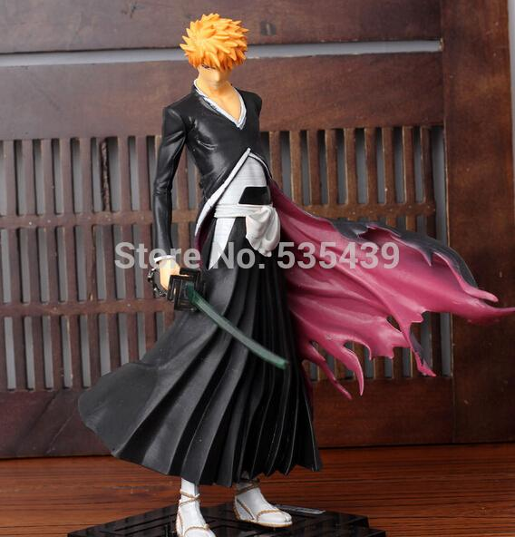NEW HOT ! 1pcs 22CM Japana anime Bleach pvc Kurosaki Ichigo action figure toys tall.Promotion price for Bleach fans