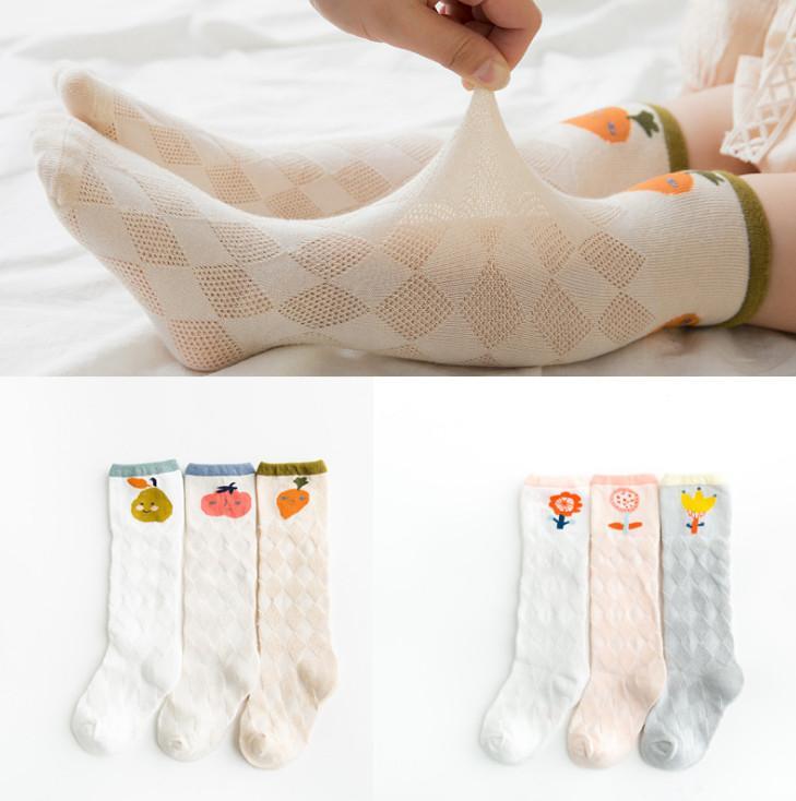 0-4ans Bébé Enfant Fille Coton Nœud Papillon Chaussette Longue Haute Genou Bas