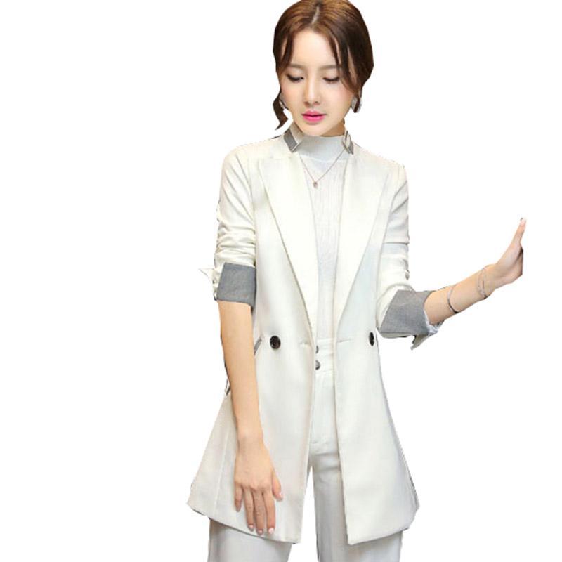 Kadınlar Küçük Suit bahar Büyük boy İnce Tanrıça Ceket Office Professional Kadın Blazer Zarif Sonbahar OK221 Tops Womens