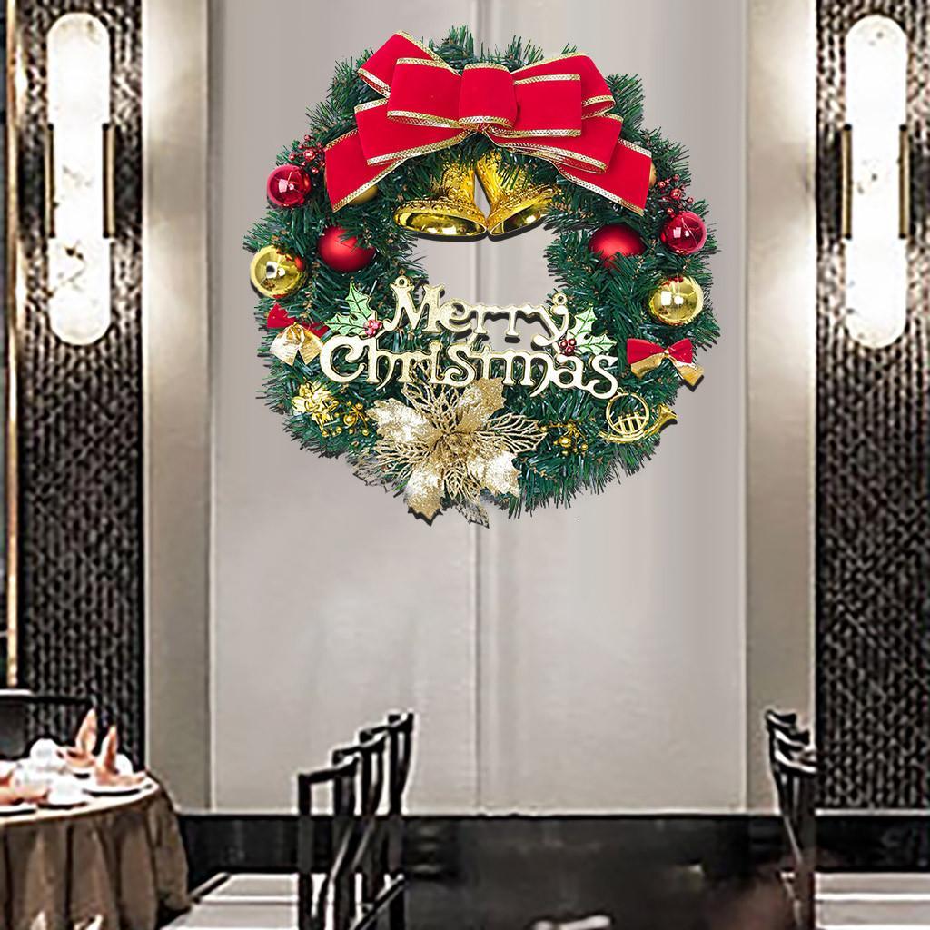 Cena Shopping decorações das janelas Natal Props compras layout Rattan Grinalda criativos presentes pingente de Natal GOTA DE ENVIO T191031
