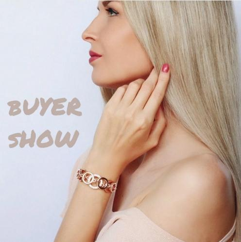 Fashion-Gold & Silver Color Circles Bracelet & Bangles for Woman Rhinestones Paved Double Layer Round Female Bracelets