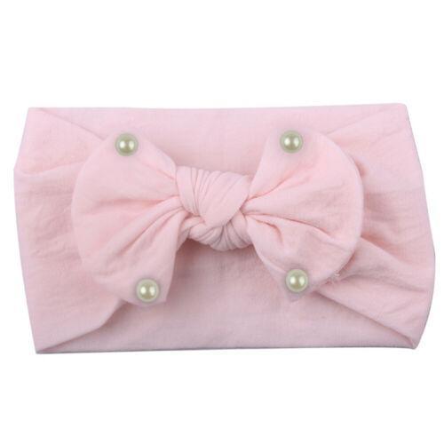 2019 la nueva manera de las muchachas del niño del turbante pelo de la venda de la banda de perlas arco accesorios Headwear