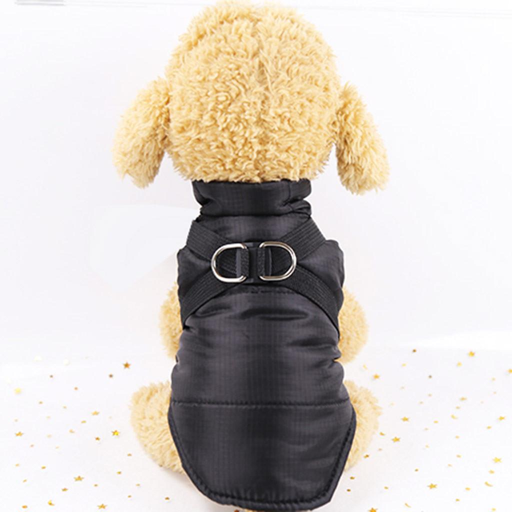 Winter Warm Pet Dog Vest Clothes Solid color Waterproof Coat Jacket For Small Dogs Puppy Cat Raincoat Apparel size XS-XXL