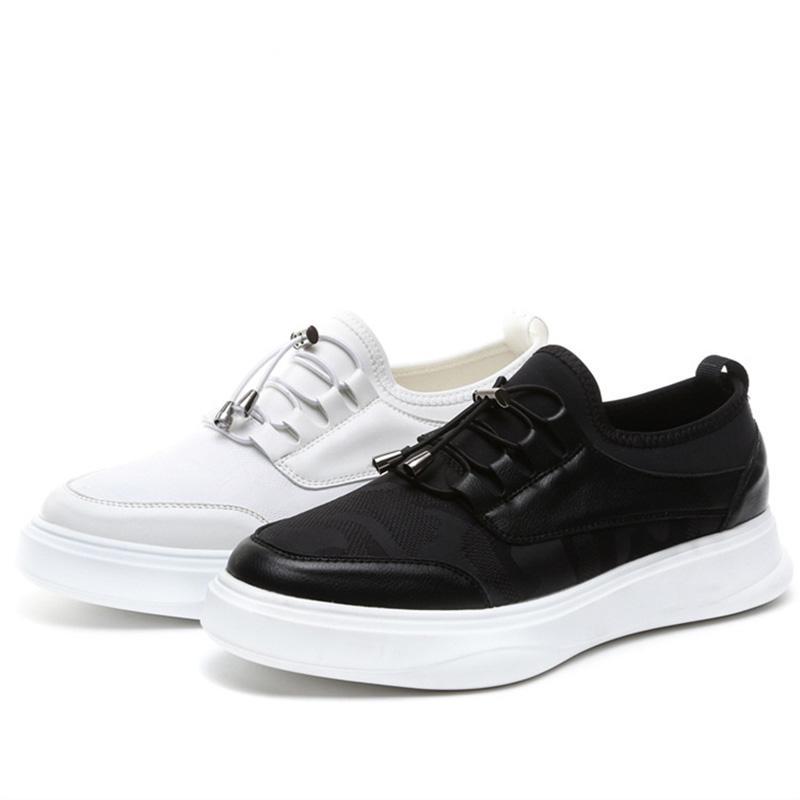 Lüks ayakkabı erkekler beyaz Erkek ayakkabı Deri Siyah Tasarımcı ayakkabı erkekler Yüksek Kalite Moda Zapatillas Hombre Casual Sepatu Pria