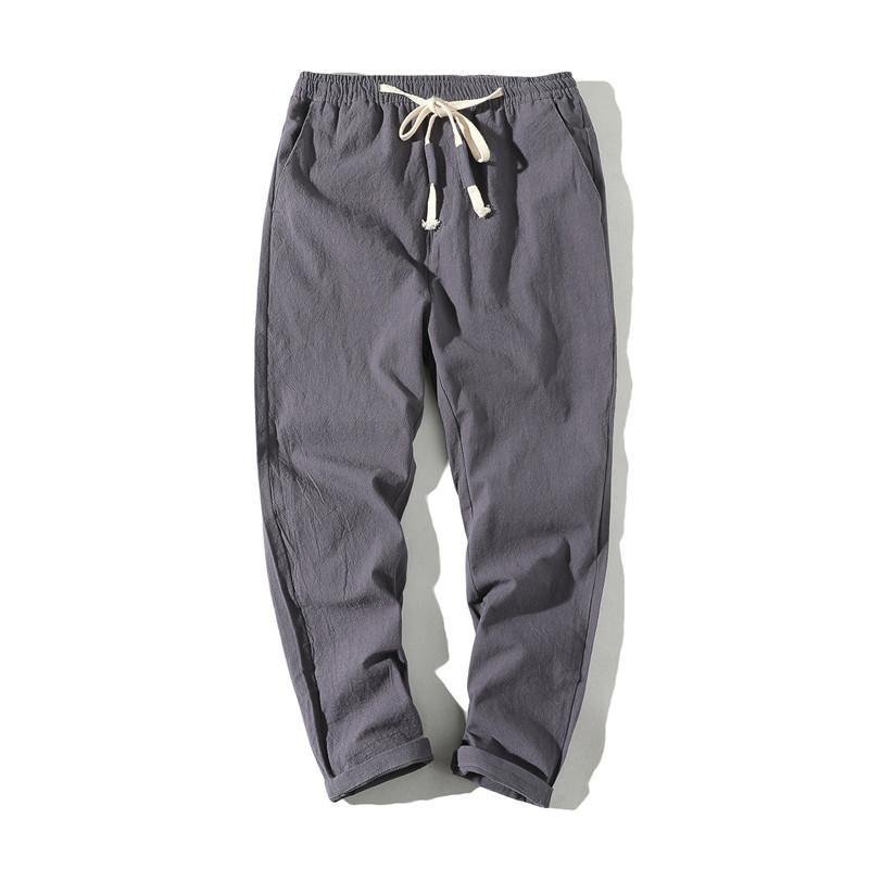 Pantaloni Casual Trendy Stretch Uomo d'oliva allentato Chino noni pantaloni cargo Mens ritagliata pantaloni da uomo con il peso leggero