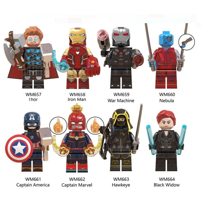 Super hero Marvel Captain America Avengers 4 Thor Mini Toy Figures Building Block Assebmle Blocks kids toys