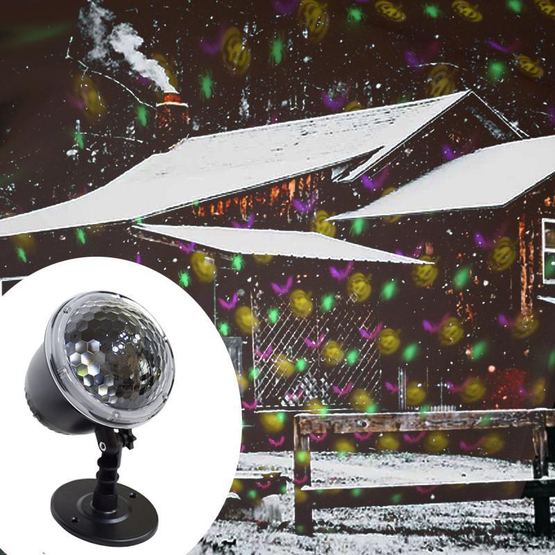 구글과 눈 야외 정원 프로젝터 램프 신년 파티 장식을 이동 크리스마스 눈송이 레이저 빛에 눈이 프로젝터 IP65