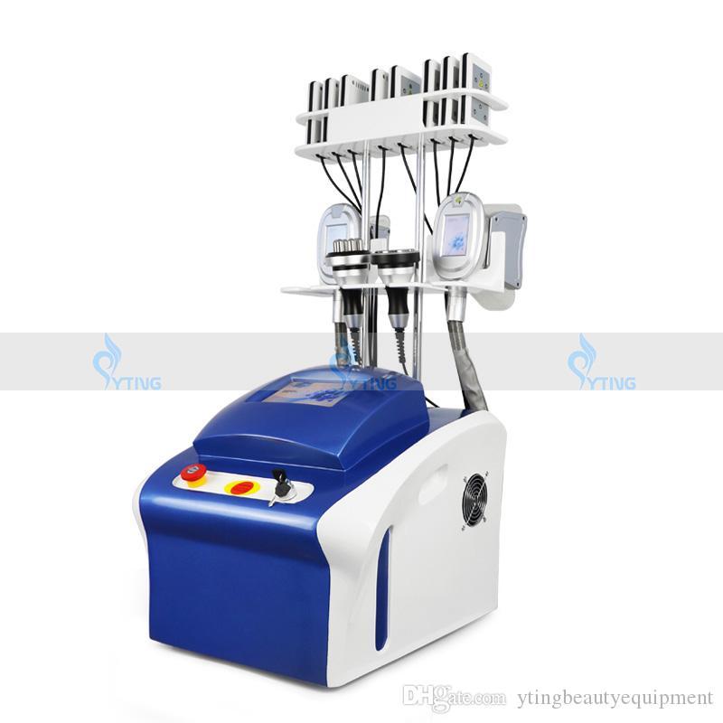 4 в 1 жирной морозильной машины Кавитация RF похудение машины для похудения Талия, снижение жира Lipo Лазерное похудение поглощения жира Портативная ультразвуковая кавитация