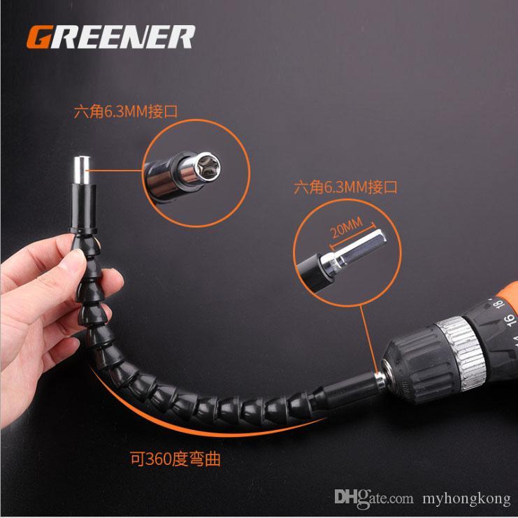 Universal-Softwelle Bohrzubehör Gelenkstange Verlängerungsstange Schlauchanschluss Welle Taschenlampe Drehbohrer Universalkopf