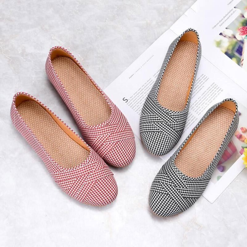 Hot Sale-shoes woman 2019 Spring Ladies'New Soft Bottom Anti-skid and Air-permeable Light Leisure Shoes espadrilles