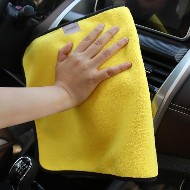 5x30 * 30cm Car Wash serviette en microfibre Nettoyage de séchage Tissu Hemming Entretien automobile Tissu Détailler Débarbouillette voiture -Styling
