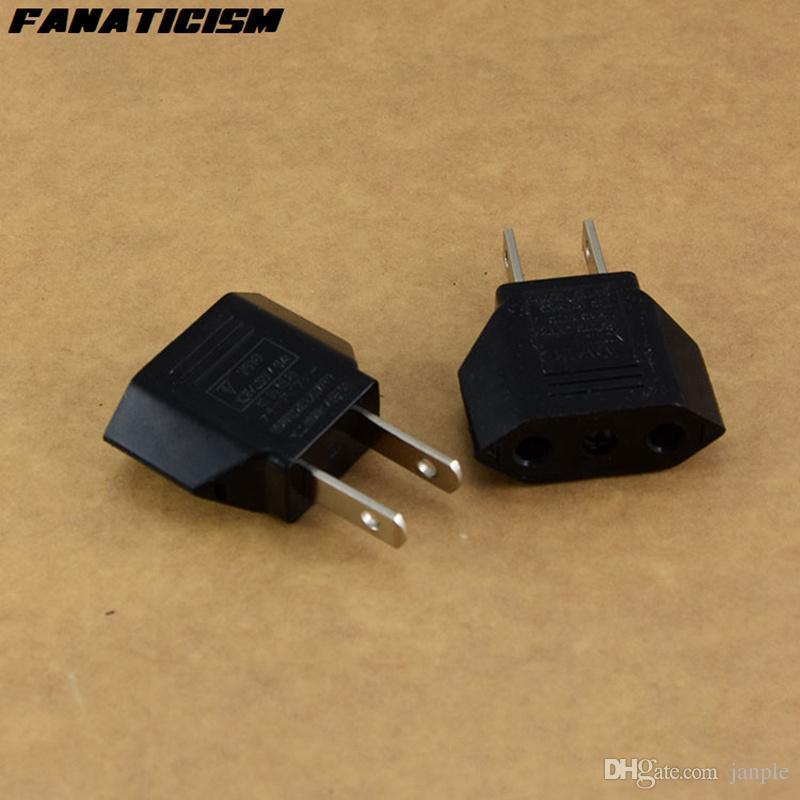 Fanaticism Universal America USA Travel AC Power Electrical Plug Socket 2 Pins Round EU To US Plug Adapter Converter