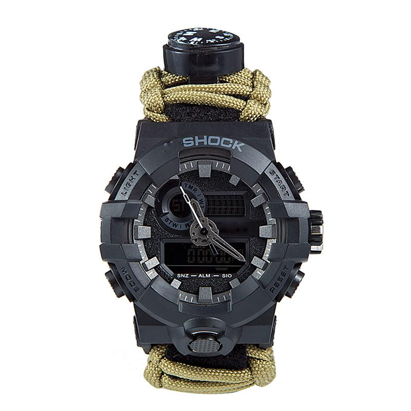 Outdoor Survival Paracord Watch Camping Multi-functional Survival Watch Compass Thermometer Rescue Rope Tactical Paracord Tools (5)