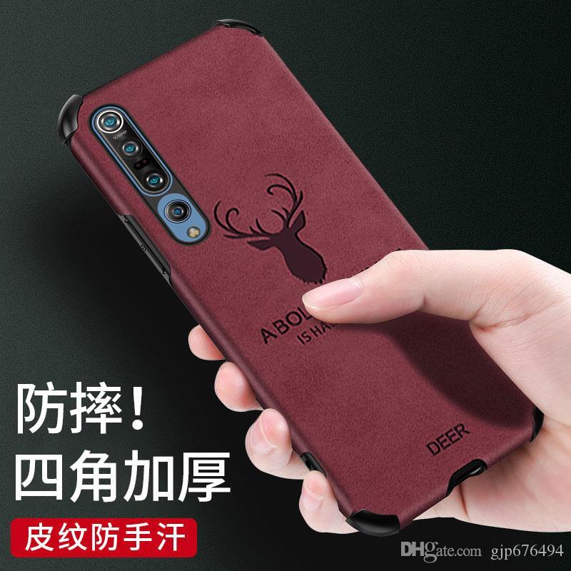 Caixa do telefone móvel para Xiaomi 9 xiaomi10 10pro TPU + Couro Elk criativa tampa protetora