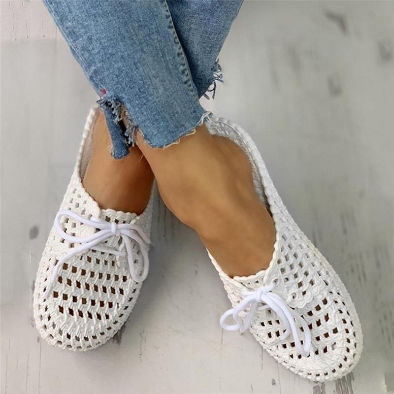 tête ronde creux Mules chaussures plates trou de mode pour femmes été en plein air pantoufles dames sandales et