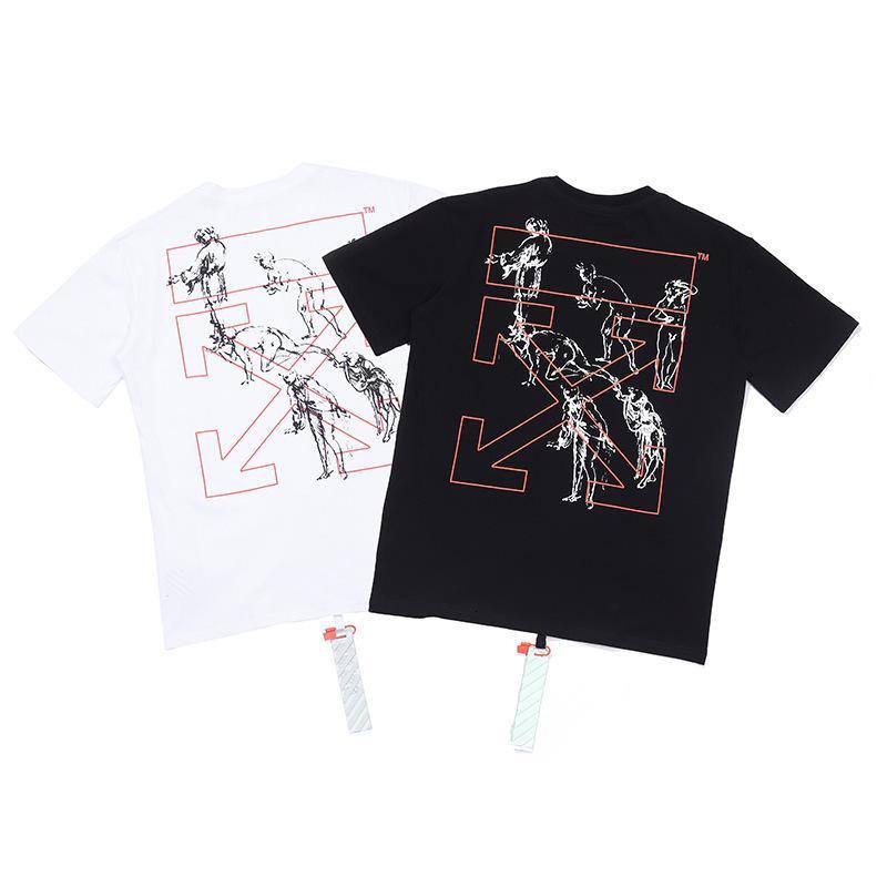 2020 hombres de alta calidad de manga corta de moda de verano camiseta casual cómodo cuello redondo camiseta ropa de moda C8PZ909Z