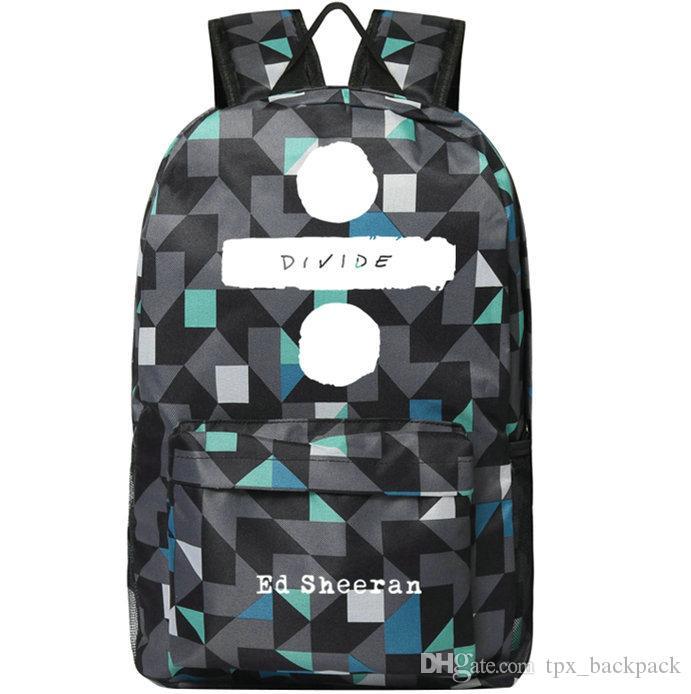 إد شيران ظهره إدوارد كريستوفر اليوم حزمة شعبية نجمة حقيبة مدرسية الموسيقى packsack طباعة حقيبة الرياضة المدرسية في الهواء الطلق daypack