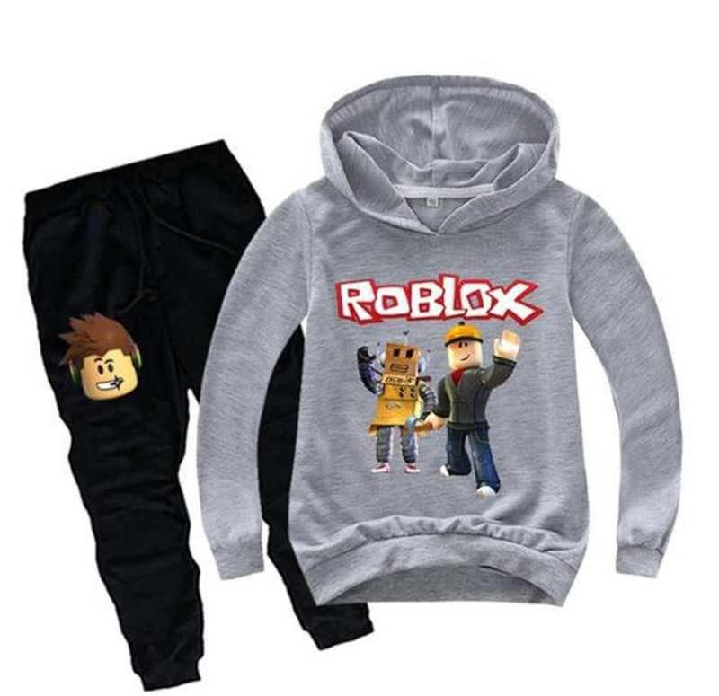 New ROBLOX Children/'s Fashion Casual Hoodie Pants Kids Set