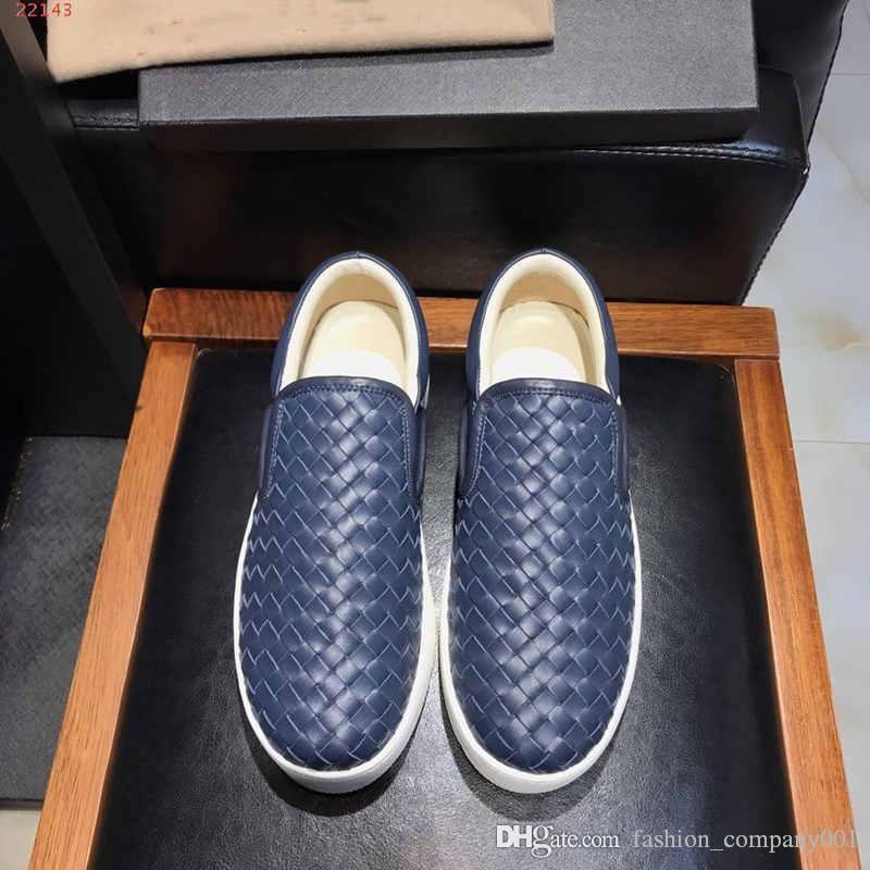 Chaussures de course à rayures tissées pour hommes, cuir Chaussures plates confortables et respirantes à semelles en caoutchouc pour hommes, pointure 38-44