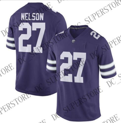 Barato al por mayor Kansas State Wildcats Jordy Nelson NCAA Jersey Costura personalizada cualquier nombre nombre camiseta de fútbol HOMBRE MUJERES JÓVENES XS-5XL