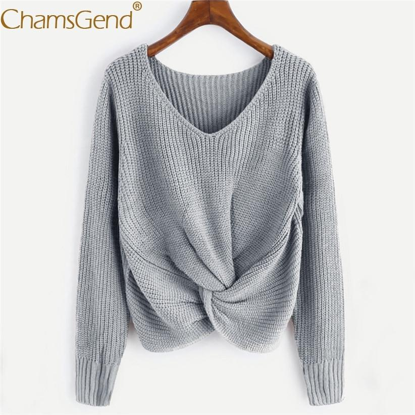 Free Shipping Casual Women V Neck Sweater Pullovers Autumn Winter Women Twisted Jumper Female Knit Sweaters 80920 Y200116