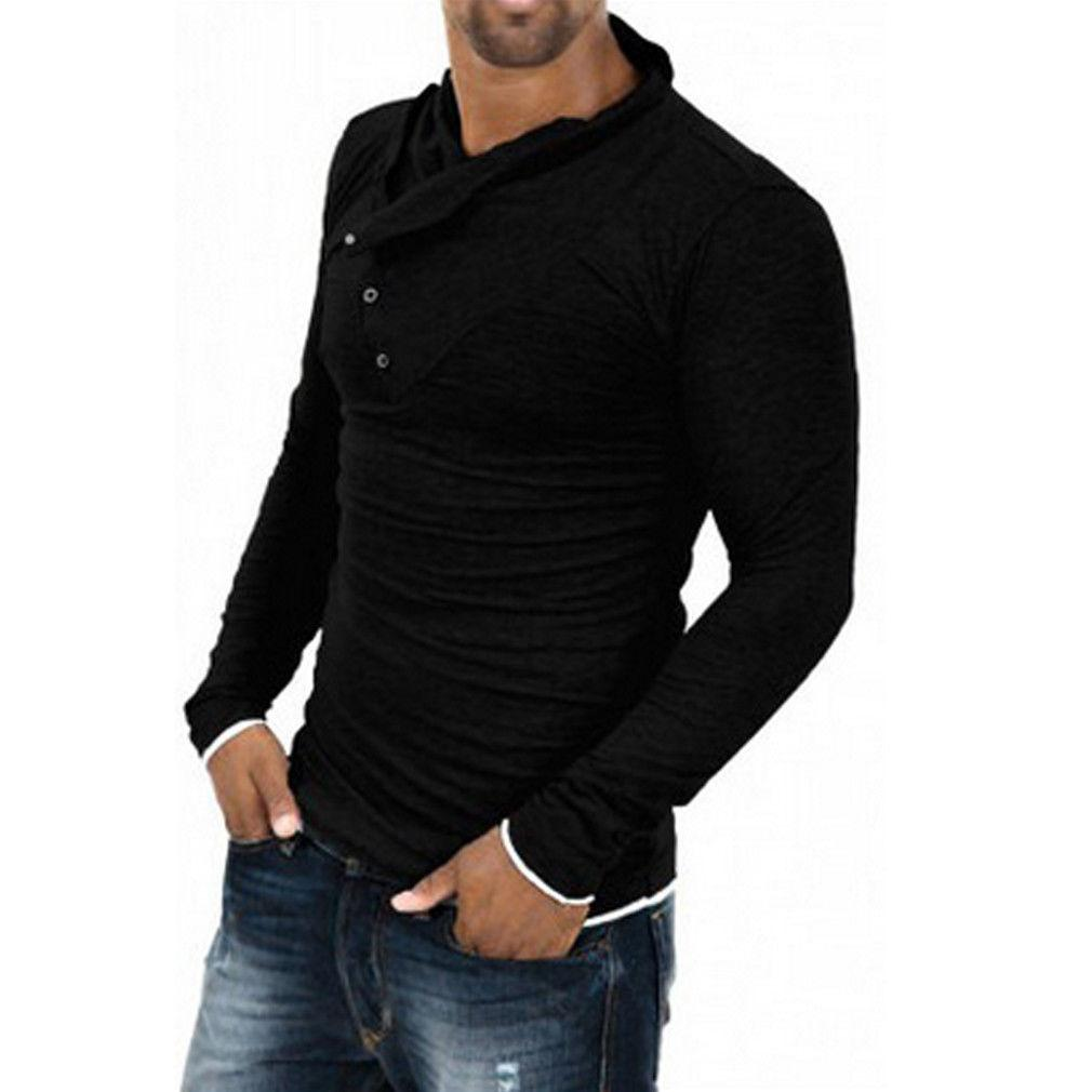 T-shirts hommes 2021 Style Fashion Slim Fit Fit Irregular Manches longues à manches longues T-shirt T-shirt T-shirt T-shirt Turtleneck Tops
