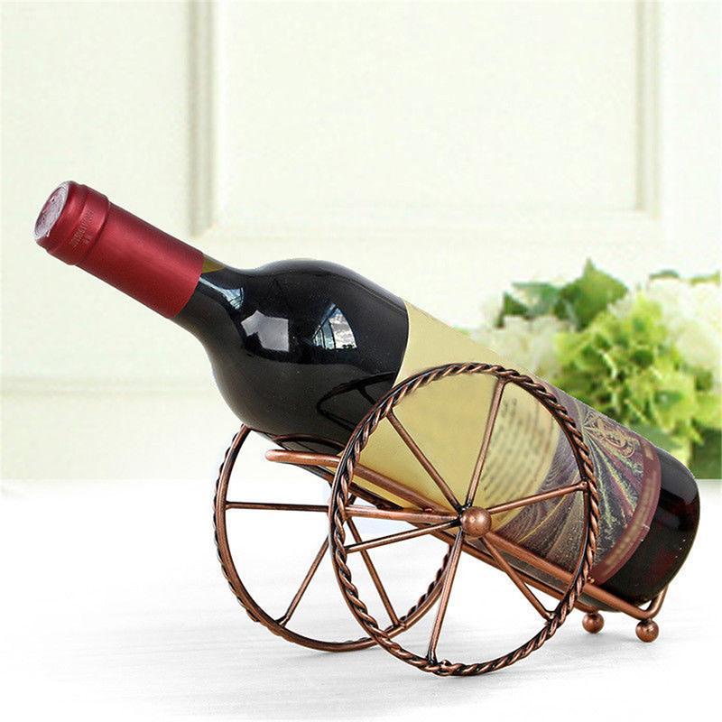 Estante de vino de metal europeo Decoración Sala de estar creativa Decoración de gabinete de vino Soporte de exhibición