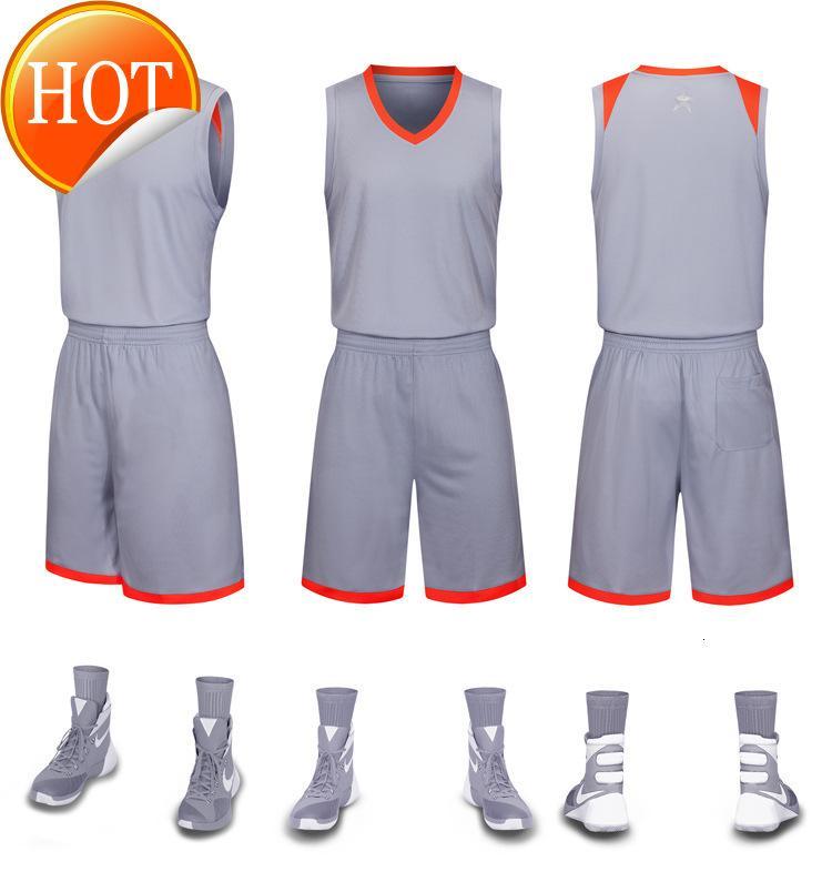 2019 Новые трикотажного Blank баскетбольных напечатан логотип Mens размера S-XXL дешево цена быстрой доставки хорошего качество серого G001AA1