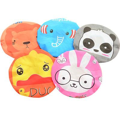 Bathing Cap Kids Cartoon Hat Waterproof PVC shower cap Women Animal Bath Accessories Girls Bath Tools