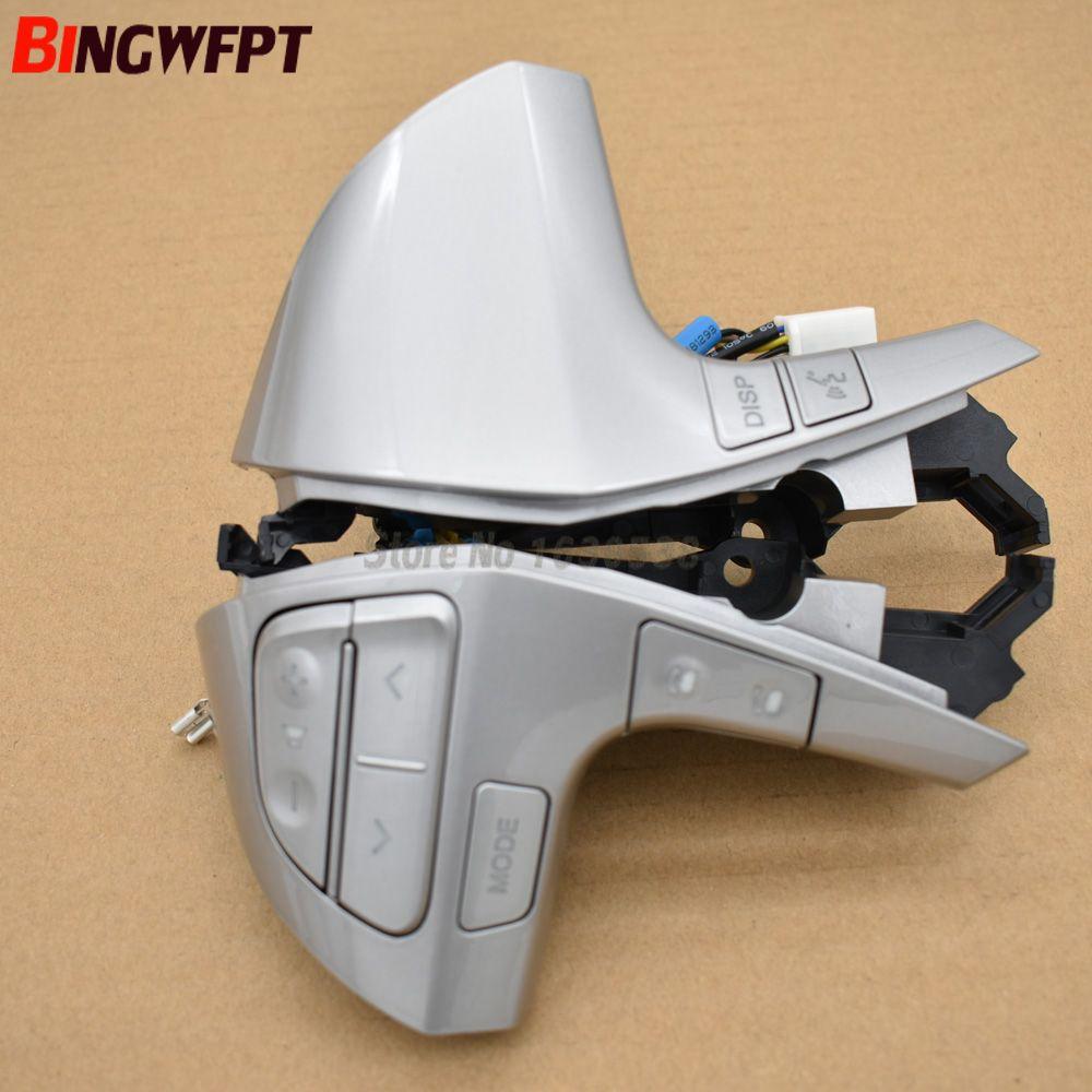UV argent Bluetooth Volant Bouton De Commande Audio Bouton De Commande 84250-06160 Pour Toyota Camry Corolla Hilux