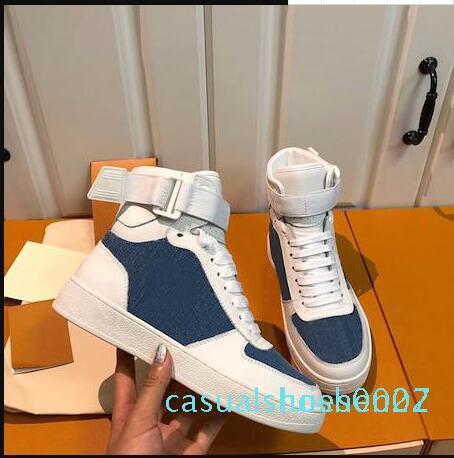 yüksek üst dana bay ve bayanlar için 2019 yeni varış Rivoli spor ayakkabı çizme gökkuşağı eğitmen Flower motifleri bağbozumu eğitmenler C27 sneakers