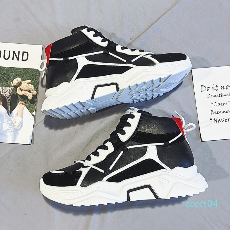 Clássico Black White Shoe Casual para Mens Womens homens vermelhos Platform sneakers sapatos de couro Lace up Outdoor Runner instrutor CT04 Walking