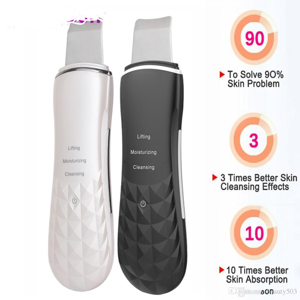 New Ultrasonic Face Skin Scrubber Blackhead Remover Facial
