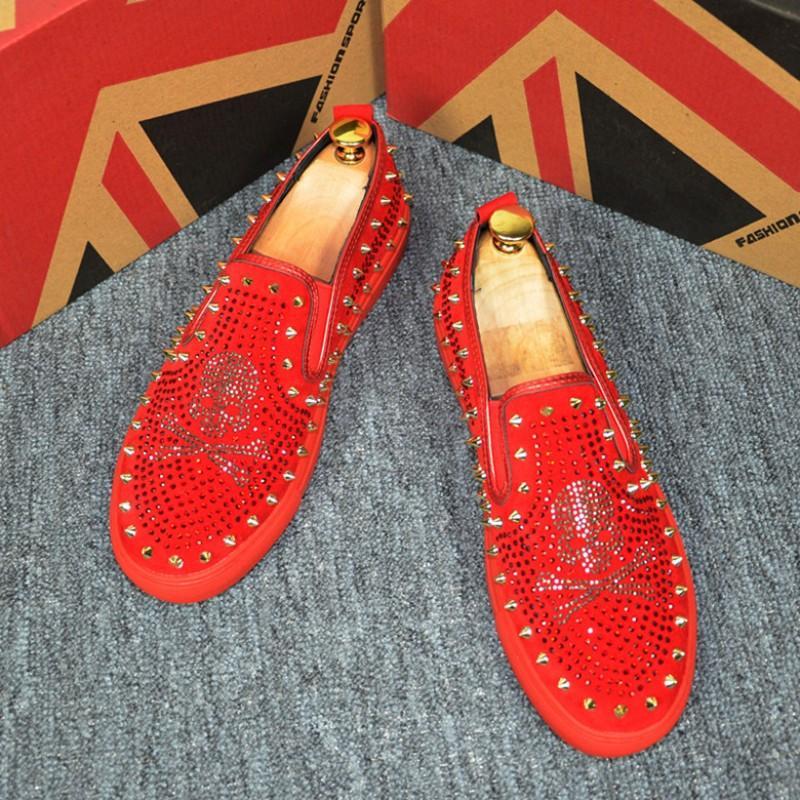 YENI ÜST erkek loafer'lar moda seti ayak erkekler perçin deri ayakkabı yumuşak taban nefes sürüş ayakkabı, erkek oxford rahat ayakkabılar b12