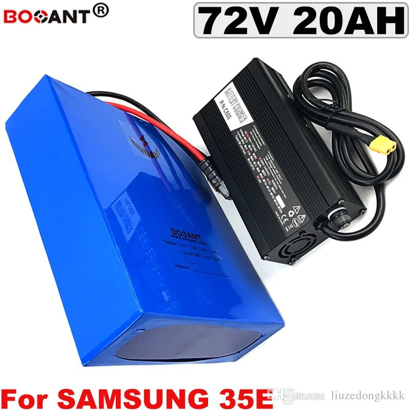 72V 20AH 1500W 3000W E-Bike Lithium Ion Batterie pour Samsung 30B 30Q 35e Batterie de scooter électrique à vélo électrique 72V + 5A Chargeur